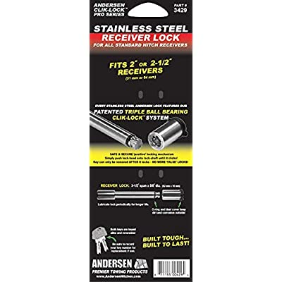 Andersen Hitches Stainless Steel Lock Pin for Receiver Only (3429): Automotive
