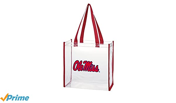 Clear with Long Handles for Ole Miss Rebels Fans. Desden Open Top Stadium Tote