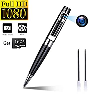 Spy Camera Hidden Pen Camera Portable Body Cam Snapshot & Take Vidoes Built-in Free 16GB Micro SD Card