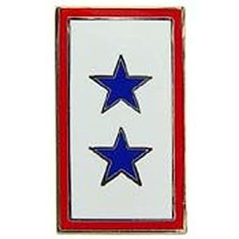 Metal Lapel Pin - U.S. Army Pin - US Military 2 Blue Stars Service Emblem