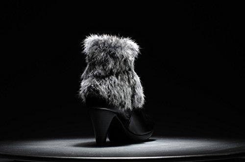 Inverno Caldo Alto Sk Grosso Neve Foderata Donne Stivali In Studio Nero Da Pelliccia Tacco Delle Stivaletti Ywx1XqPxCF