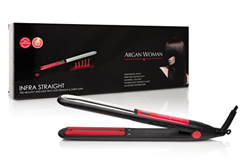 Argan Woman Professional Infrared Tourmaline 445°F Salon Heat Flat Hair Iron Straightener 1