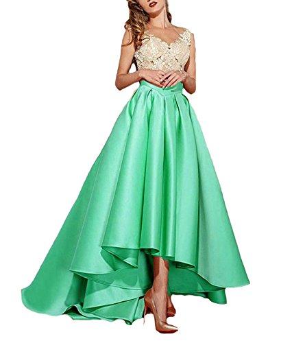 Les Appliques De Dentelle De Femmes Dressesonline Robes De Bal Formelle Haute Turquoise Faible Robe De Soirée