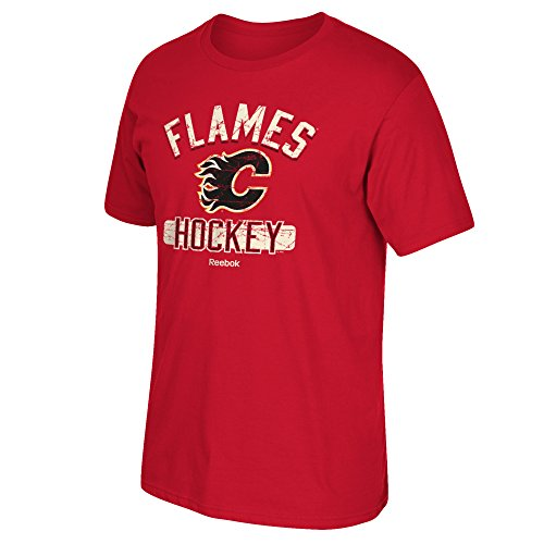 NHL Calgary Flames Men's Miracle Short Sleeve Go-To Tee, Medium, - To Aus Calgary