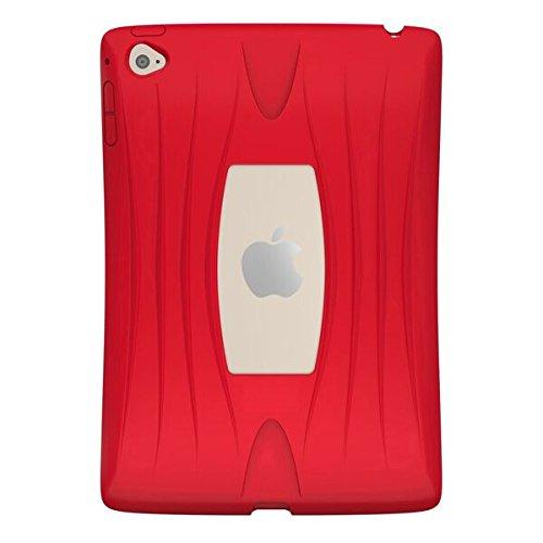 UZBL Slim [AirWave Series] Case, 1-Piece Silicone Design Compatible Apple iPad Mini 4 (Not Mini 1/2/3) Red