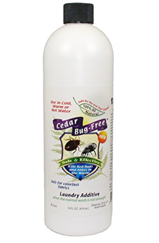 Bed Bug Laundry Additive - Cedar Bug-Free Laundry Additive. Kill Bed Bugs and Mites - 8 oz