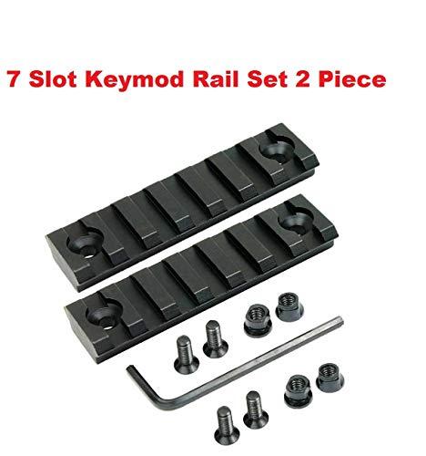 360 Tactical 7 Slots key mod Rail Section For Keymod Handguard Seven Slots Keymod Rail Picatinny Rail Set Of 2 Pieces ()