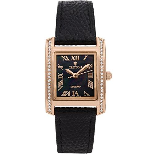 Croton Ladies Swiss Quartz Diamond Case Watch with Mother of Pearl Dial - CN207057RGBK