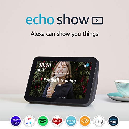Echo Show 8 (1st Gen, 2019 release) – Smart Display with Alexa – Stay in touch with the help of Alexa – Charcoal