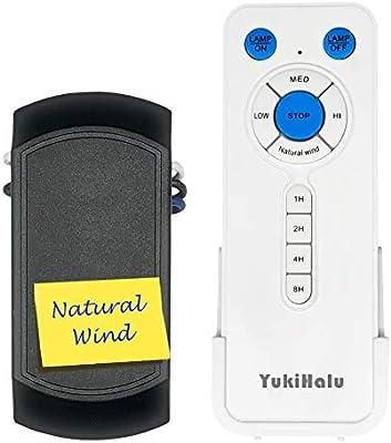 YUKIHALU - Ventilador de Techo Universal con luz y Temporizador ...