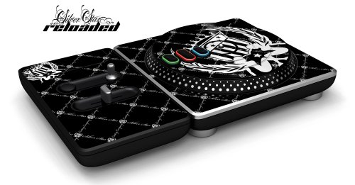 Dj Hero Turntable Controller Designer Skin, Fits Xbox 360, Playstation 2 & 3 - Silver Star Reloaded