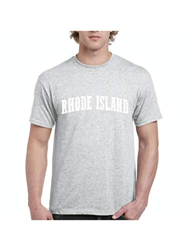Mom`s Favorite Rhode Island State Flag Providence Traveler`s Gift Men's Short Sleeve T-Shirt (SSG) Sport Grey for $<!--$12.48-->