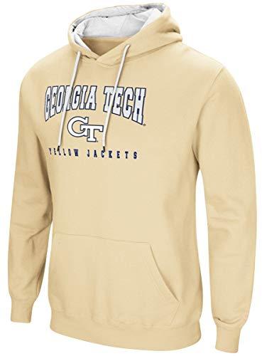 Colosseum Georgia Tech Yellowjackets NCAA Playbook Pullover Hooded Men's Sweatshirt - Gold