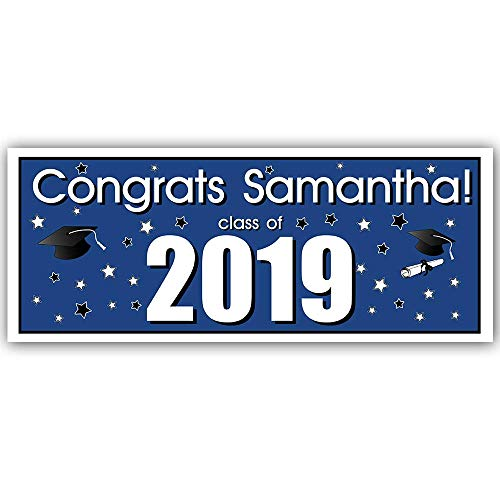 Class of 2019 Graduation Party Banner Decoration Blue -