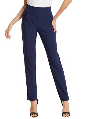 Kate Kasin Comfy Business Dress Pants Pencil Trousers For Women Navy Blue S,KKAF1017-2