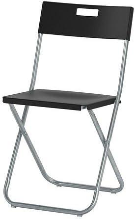 Chaise Pliante Ikea Gunde Noir Amazon Fr Cuisine Maison