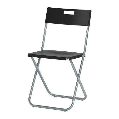 IKEA GUNDE - Folding chair, black Others