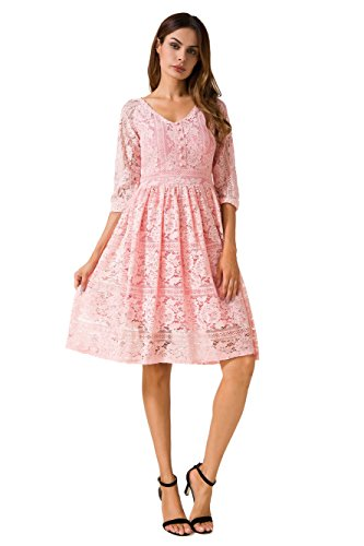 3 4 Length Sleeve Dresses - 7