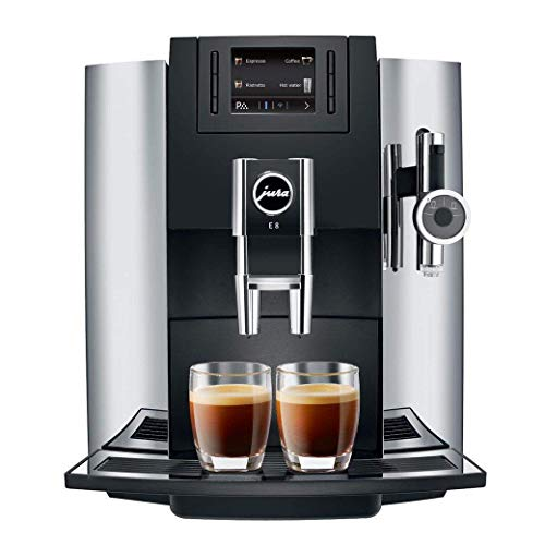 Jura 15097 E8 Espresso Coffee Machine, 28 cm x 35 cm x 35.1 cm, Chrome