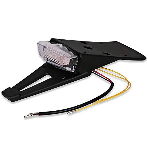 Merssavo Motorcycle Fender Edge LED Tail light, Universal Red Lens Rear Brake Tail Lamp Replacement Light Stop Running Light for Motorbike ATV Dirt Bike, 1 -