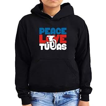 Peace love tubas Women Hoodie