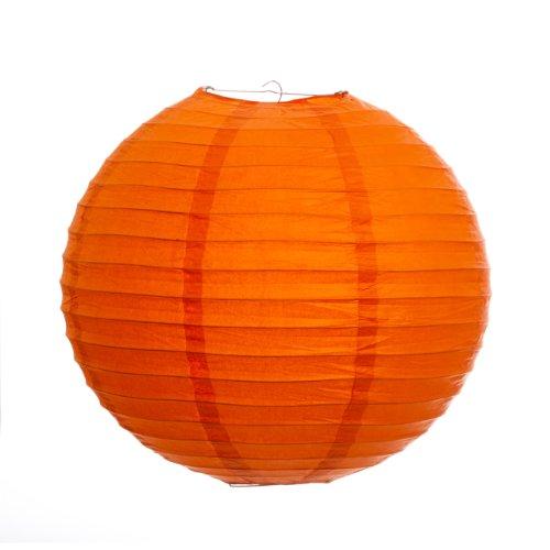 Koyal 12-Inch Paper Lantern, Mango Orange, Set of 6 by Koyal