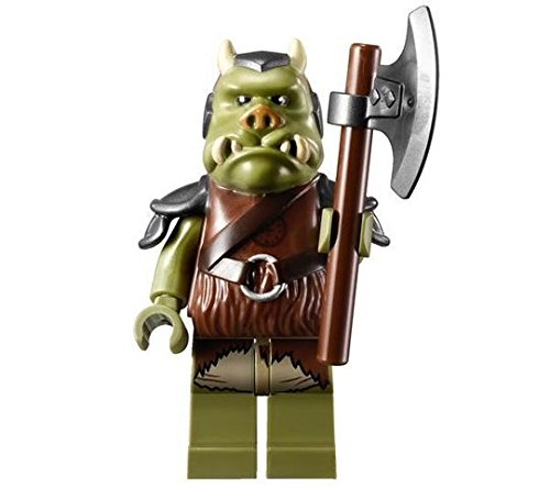 Lego Star Wars Minifigure Gamorrean Guard with Axe from Set 9616 Jabba's Palace