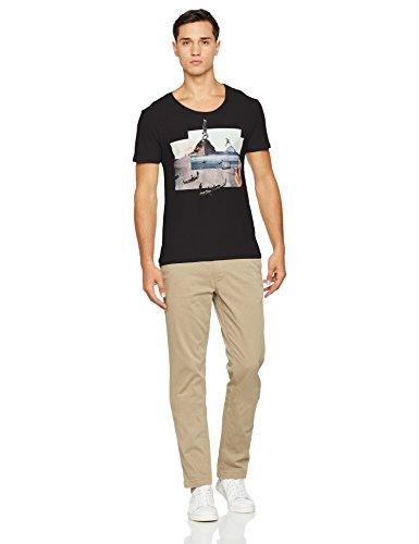 ... Boss Orange Herren T-Shirt Toughts 2 10166601, Schwarz (Black 001),