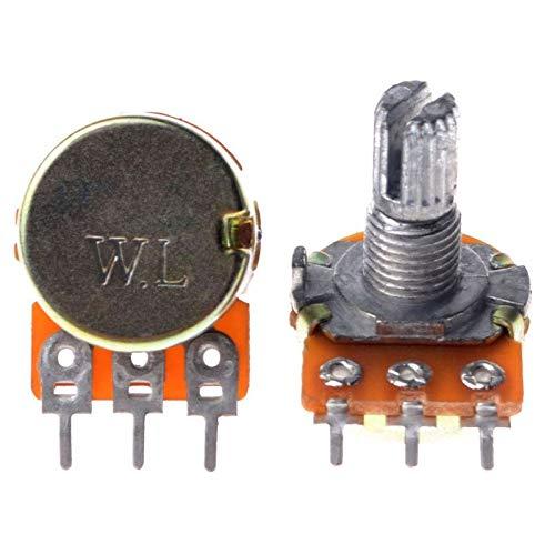 10K LIN Linear Potentiometer Control POT 15mm Variable Resistor audio volume tone etc pack of 2
