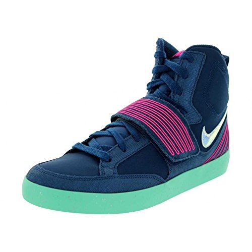 Nike Men's NSW Skystepper Brave Blue/Pink Fl/Grn Glw/Slvr Casual Shoe