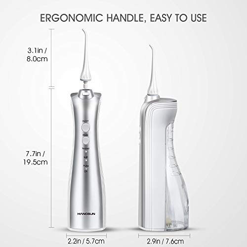 Hangsun-Dental-Water-Flosser-Cordless-Rechargeable-Oral-Irrigator-Electric-Flossers-HOC460-with-Portable-Inductive-Charger-IPX7-Waterproof-Water-Jet