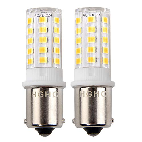 (1156 1141 BA15S LED Bulb 24V AC/DC 5W, 35W Replacement Bulb Warm White 3000K, Single Contact Bayonet Base, for RV Car Camper Trailer Boat Interior Light Bulb(Pack of 2))