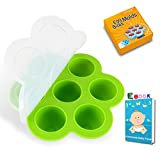 qt freezer containers - Hyyer Freezer Tray with Lid Silicone Storage Container Egg Bites Molds Fits 5,6,8 qt Pressure cooker(Green, 8.27inch)