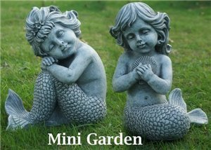 Fairy Garden   Mermaids Sitting 2 Pc Set