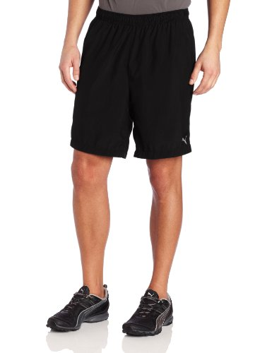 Puma Men's Performance Running 7-Inch Baggy Shorts, Black, Large