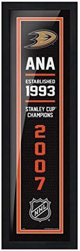 Anaheim Ducks 6x22 Empire Framed Sign