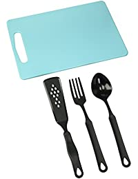 PickUp Francois et Mimi Set of Food-Safe Cutting Mat Board with Kitchen Utensils, 14