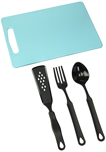 Francois et Mimi Set of Food-Safe Cutting Mat Board with Kitchen Utensils, 14
