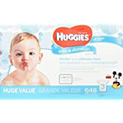 Huggies One and Done Baby Wipes - Refill Packs - 648 ct