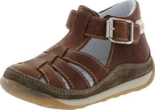 Falcotto Infant Boys 163 Closed Protective Toe And Back Casual Sandal Shoes,Brown,24 - Falcotto Kids Sandals