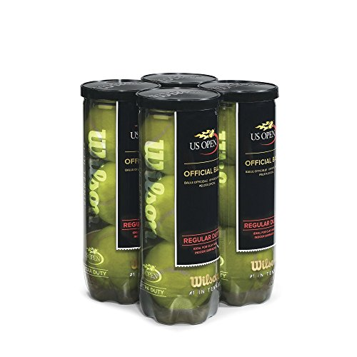 Wilson US Open Regular Duty Tennis Ball (4-Pack), Yellow