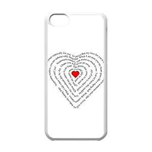 Custom Love Hard Protective Back Cover Case for iPhone 5C