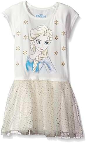 Disney Girls' Frozen Elsa Short Sleeve Dress
