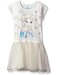 Disney Girls' Frozen Elsa Short Sleeve Dress