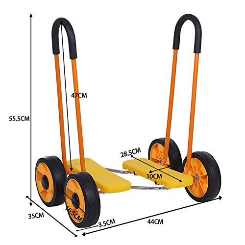 (YAXuan Sensory Training Equipment Balance Bicycle Children Kindergarten Balance Car Treadmill Outdoor Toys Four-Wheel Pedal,E)