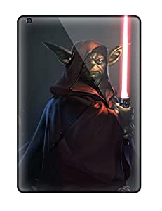 Hot Design Premium Trm6114JXEq Tpu Cases Covers Ipad Air Protection Cases(darth Yoda)