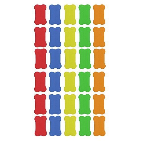 Gracallet® 30 Pcs Random Color Magnetic Small Whiteboard Dry Erasers - 2 3/4 x 1 9/16 Inches