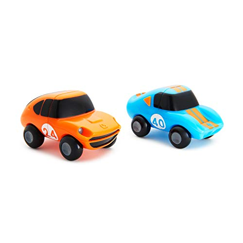Munchkin 2 Piece Magnet Motors Mix and Match Car Bath Toy, Blue/Orange