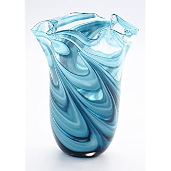 Amazon Luxury Lane Hand Blown Multicolor Sommerso Teardrop Art