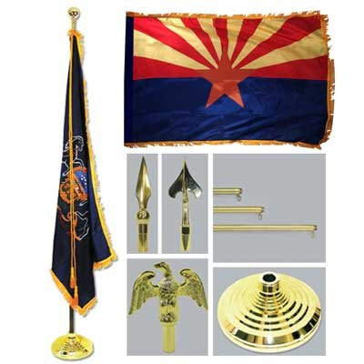 4' x 6' 4x6 FT AZ Arizona Flag SolarMax Nylon US Made ()